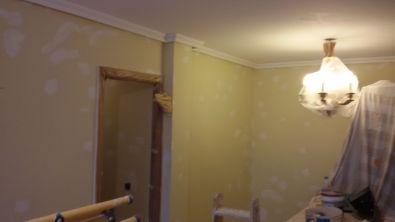 1ª mano de plastico y replastecido en techos y paredes (7)