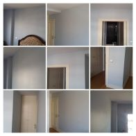 Esmalte Valacryl color azul grisacio en dormitorio - COLLAGE