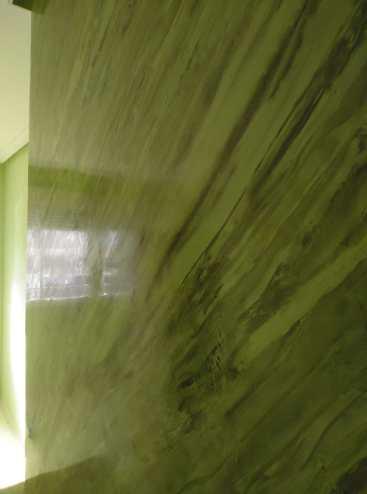 Estuco Marmoleado a 2 colores Verde claro y oscuro (2)