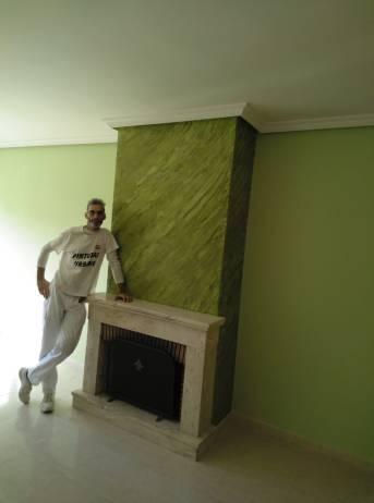 Estuco Marmoleado a 2 colores Verde claro y oscuro (4)