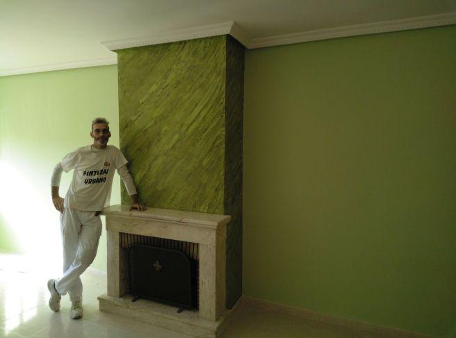 Estuco Marmoleado a 2 colores Verde claro y oscuro (8)