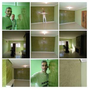 Estuco Veneciano Espatuleado con Veteado color Verde - COLLAGE