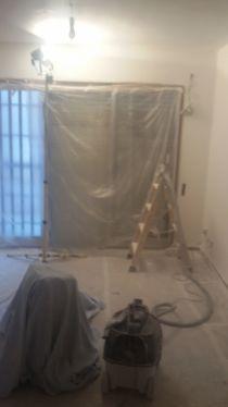 Lijado de techos con lijadora con extracción de polvo (1)