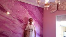 Estuco Marmol a 3 colores Violeta con cera (29)
