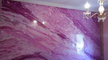 Estuco Marmol a 3 colores Violeta con cera (3)