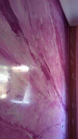 Estuco Marmol a 3 colores Violeta con cera (8)