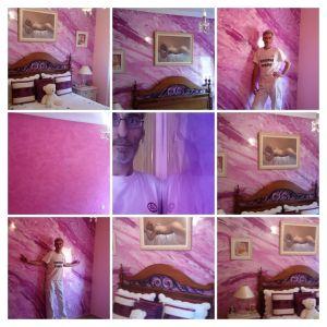 Estuco Marmol a 3 colores Violeta