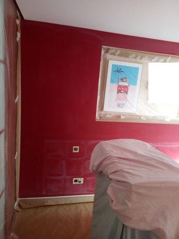Dormitorio Antes Rojo y Crema (2)