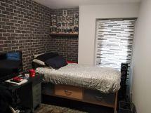 Habitacion Papel pintado labrillo y plastico sideral color gris (10)
