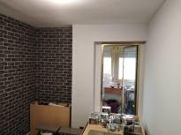 Habitacion Papel pintado labrillo y plastico sideral color gris (3)