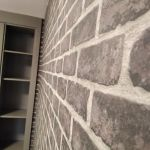 Habitacion Papel pintado labrillo y plastico sideral color gris (5)