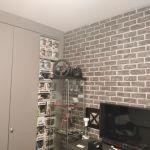Habitacion Papel pintado labrillo y plastico sideral color gris (8)