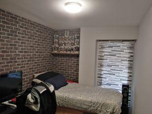 Habitacion Papel pintado labrillo y plastico sideral color gris (9)