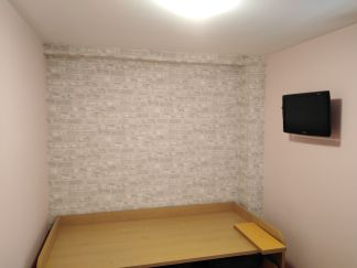 Habitacion Papel pintado labrillo y plastico sideral color rosa (1)