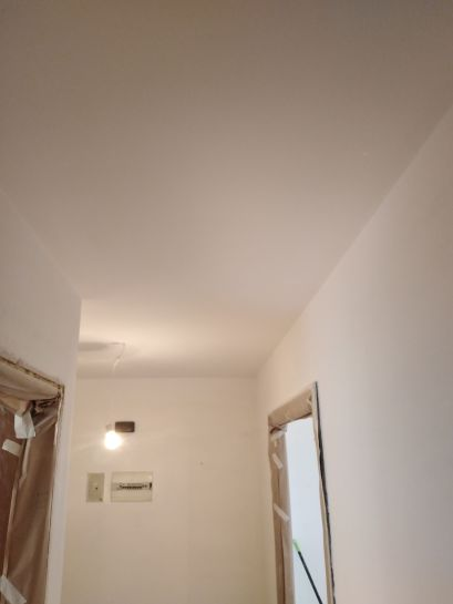 Lijado de techos y aplicado 1 mano de plastico sideral s-500 blanco (6)