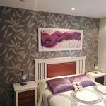 Dormitorio Papel pintado gris y plata (3)