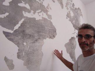 Colocacion de papel pintado mapa mundial (11)