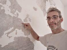 Colocacion de papel pintado mapa mundial (19)