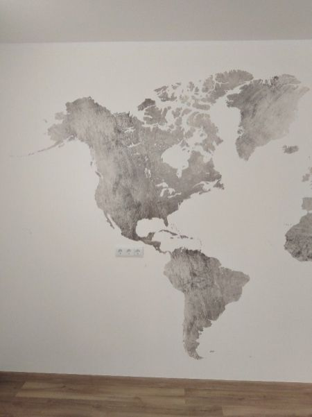 Colocacion de papel pintado mapa mundial (25)