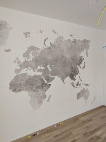 Colocacion de papel pintado mapa mundial (26)