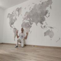 Colocacion de papel pintado mapa mundial (27)