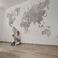 Colocacion de papel pintado mapa mundial (28)