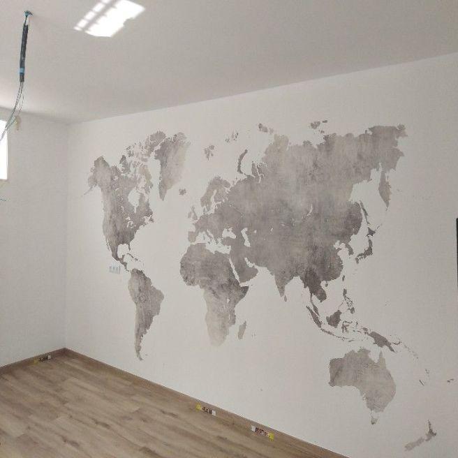 Colocacion de papel pintado mapa mundial (4)