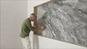 Aplicando 3 mano de Estuco Marmol Coslada