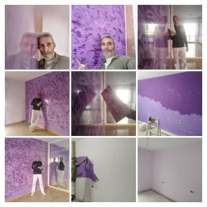 Estuco Cuarzo Amatista Morado - COLLAGE