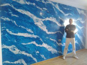 Estuco Marmol El Viso Vilalbilla Azul Pinturas Urbano 2