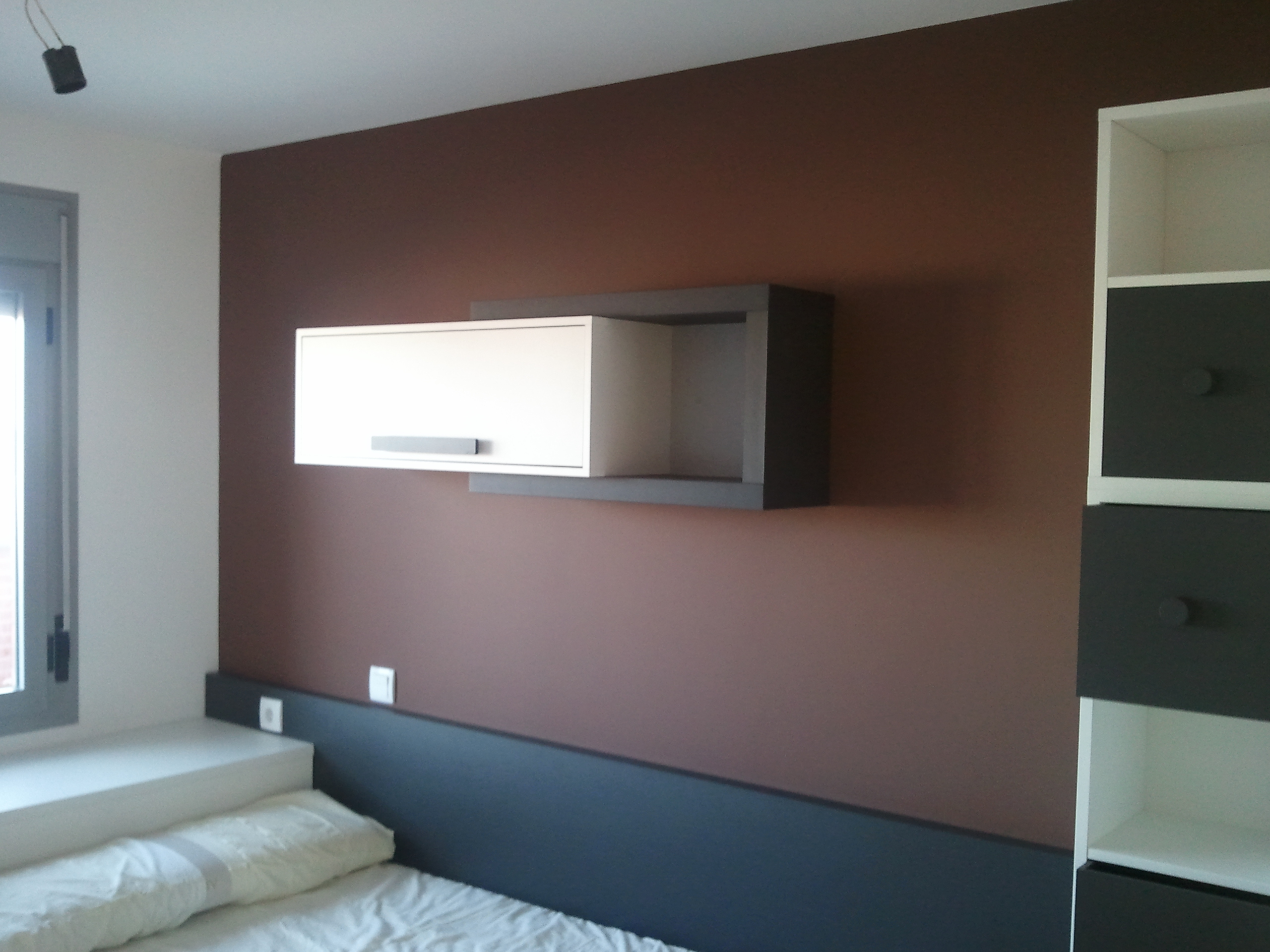 Pintura Plastica Color Blanco y Chocolate  Marron