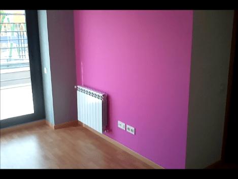 Pintura Plastica Color Gris Claro y Rosa Oscuro  PINTORES