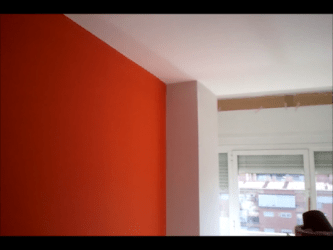gris claro naranja pintura plastico plastica salon colores pano pinturasurbano