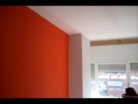 Pintura Plastica Color Gris Claro y Naranja  PINTORES EN