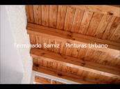 Porche de Madera Barniz