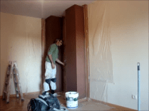 Aplicando esmalte pymacril color marron 4