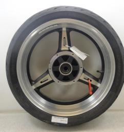used 2002 2003 2004 2005 yamaha xv1700 pc road star warrior rear wheel rim [ 1024 x 768 Pixel ]