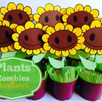 Plants vs Zombies potted sunflowers