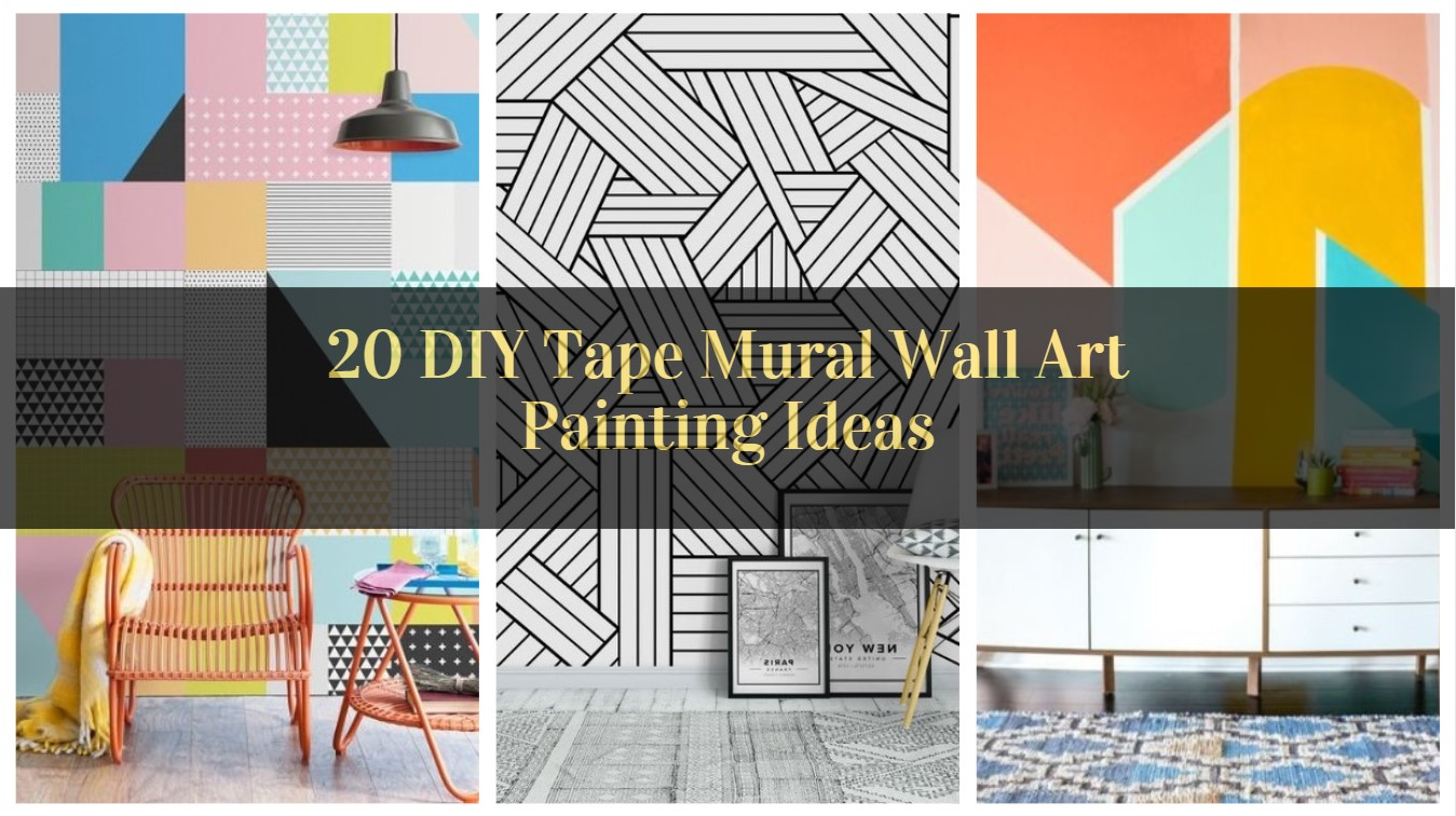 20 Diy Tape Mural Wall Art Painting Ideas Pinzones