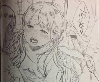 【画像】ヱロ漫画のネーム(下書き)がヱロすぎわたwwwww