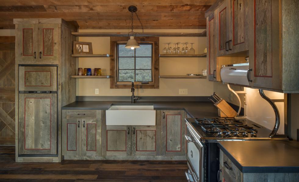 kitchen fork bath design pioneer cabin company | custom builders and plan ...