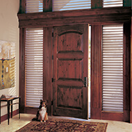 Side and top windows around your front door create a dramatic entry.