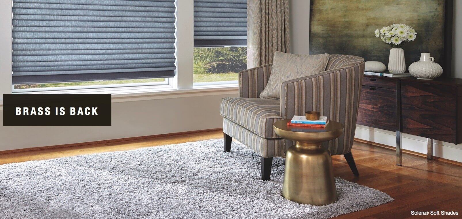 Brass is popular again as a home decorating choice.