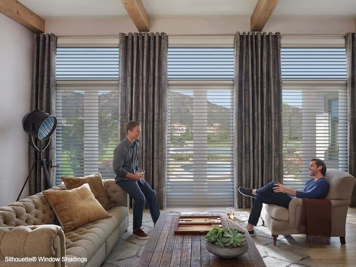 Silhouette Window Shadings - ClearView Tapestry in Living Room