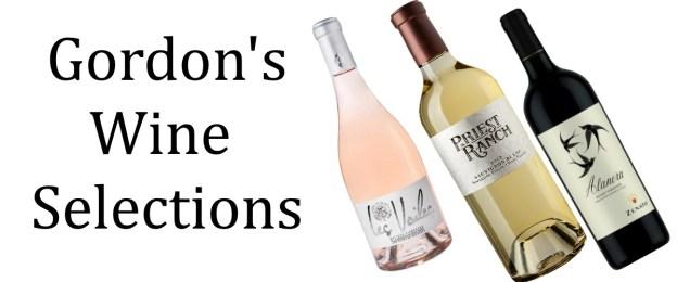 Gordon's wine selections