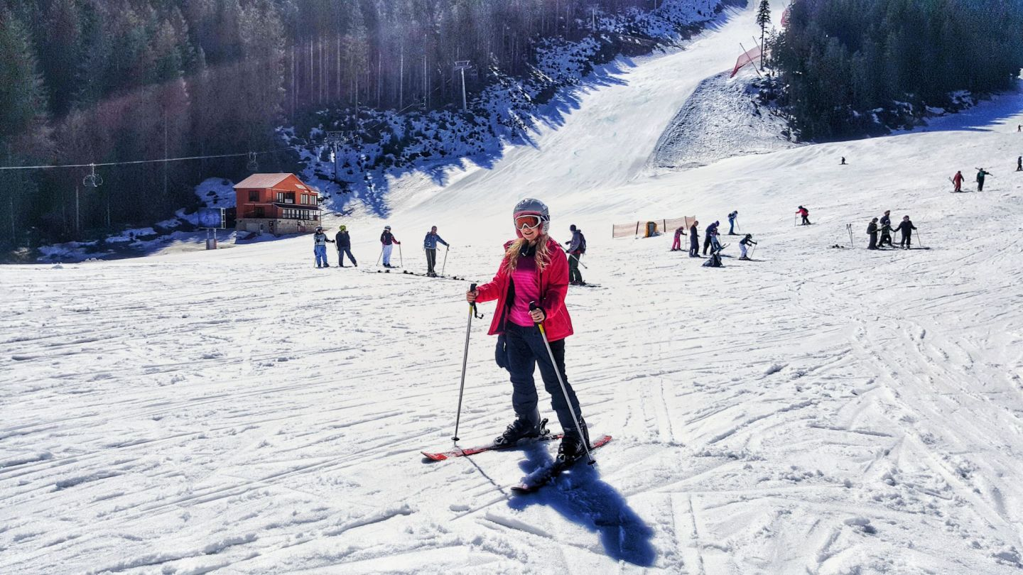 Beginner Skiing in Bansko