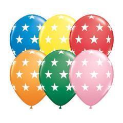 globos estampados con estrellas