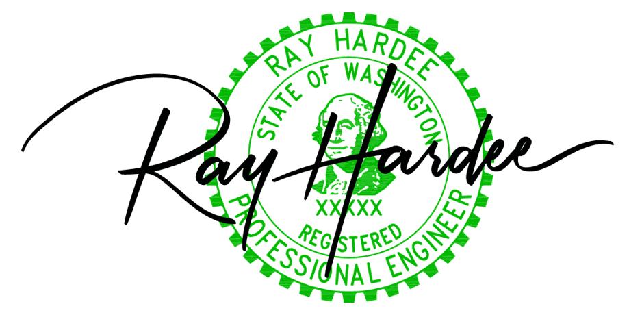 Ray Hardee P.E. stamp