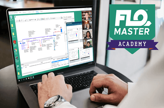 person going through flo master academy