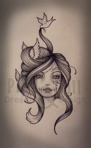 custom tattoo design pipedolls